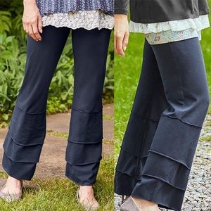 Matilda Jane Navy Vagabond Finns Wide Leg Pants